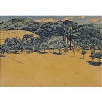sommerliche landschaft bei oschwand by cuno amiet