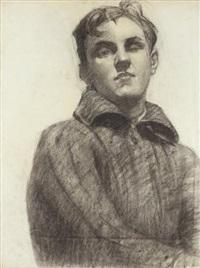 portrait d'un poéte russe by rostislav m. dobuzhinsky