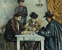les joueurs de cartes by paul cézanne