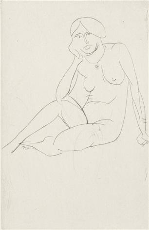 femme assise nu by henri matisse