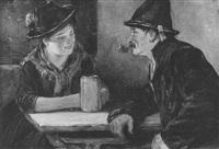 plausch in der wirtsstube by leonhard wilhelm lehmann