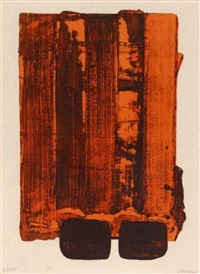 lithographie no.34 by pierre soulages