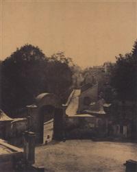 sèvres et ses environs. manufacture. porte orientale et cours d'honneur by henri-victor regnault