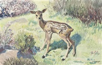startled fawn by dame laura knight