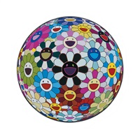 flowerball blood (3-d) v by takashi murakami