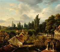 a village view by anthony jacobus offermans