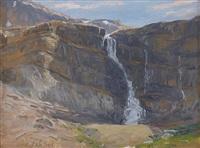 bow glacier falls by curt walters