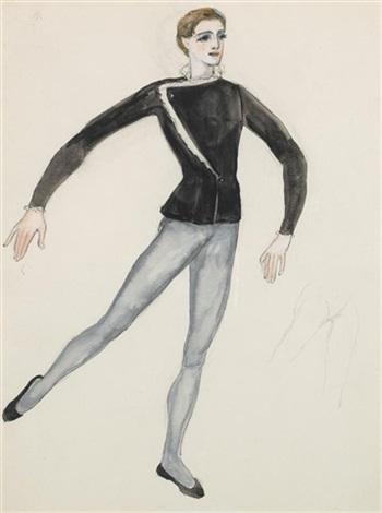 Costume Design Male Ballet Dancer Natalia Goncharova Artnet Mens Dance