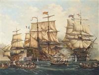 the battle of trafalgar, 21st october by denzil smith