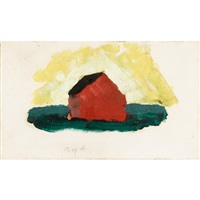 untitled (the red barn) by arthur dove