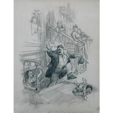 i punched my long needle into his leg by john french sloan
