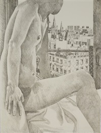 nude and cityscape by philip pearlstein