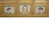 three portraits (triptych) by vlastimil hofmann
