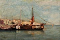 embarcations dans un port du midi by louis appian