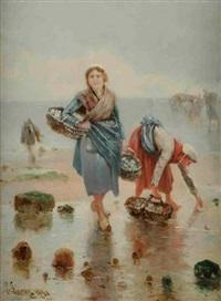 les ramasseuses de coquillages by pierre-albert leroux