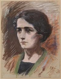 portrait of a woman by batia lishansky
