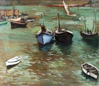 the harbour, st. ives by biddy macdonald jamieson