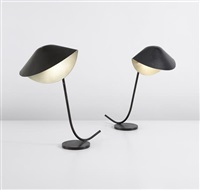 """pair of """"antony"""" table lamps by serge mouille"""