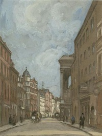 bow street at the office of john bull by horace mann livens