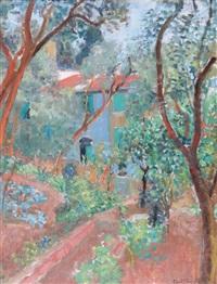 giardino con ulivi e ortaglie by ugo vittore bartolini