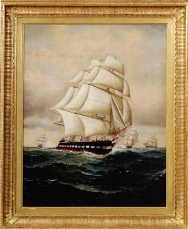 portrait of a full rigged ship by william gay yorke