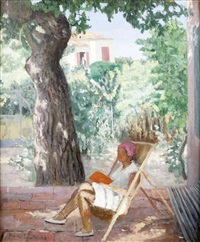lecture dans le jardin by francis smith