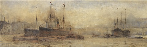 london bridge by frederick william scarborough