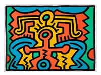 growing v by keith haring