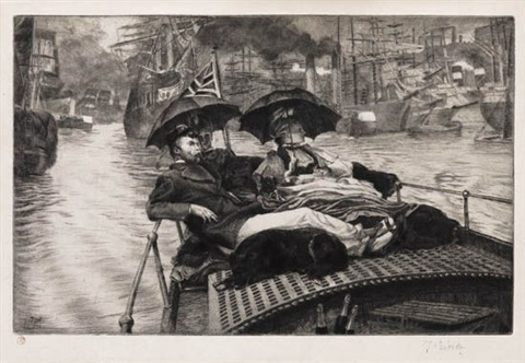 la tamise by james jacques joseph tissot