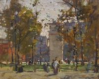 washington square by paul cornoyer