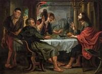 supper at emmaus by flemish school (17)
