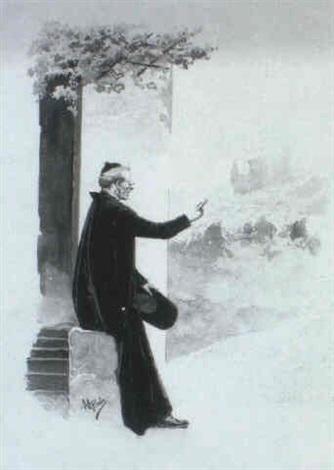 sacerdote bendiciendo las tropas by manuel picolo y lopez