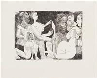 scene mythologique: peut-etre la convoitise d'agamemnon pour briseism (from serie 347) by pablo picasso