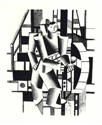 composition aux deux personnages (from die schaffenden, no. 4) by fernand léger