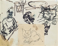 cats by frank auerbach