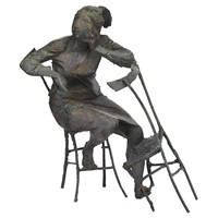 seated woman #1 by bruno lucchesi