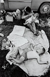 picnic at hartebeespoort dam on new year's day by david goldblatt