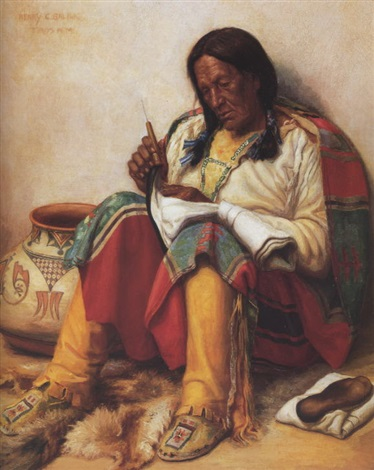 mending a moccasin by henry balink