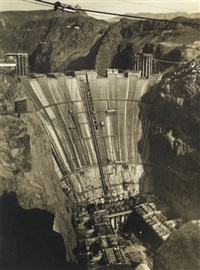 boulder dam (hoover dam), looking upstream from lookout point by ben glaha