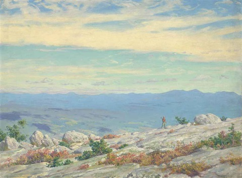 the catskills from the shawungunk by charles courtney curran