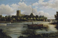 sunday sailing by a village by reginald ernest arnold