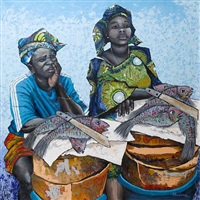 the fish sellers by kunle adegborioye