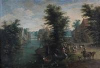 scène galante près d'une auberge by peter gysels