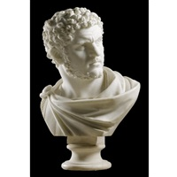 over life-size bust of caracalla by carlo albacini
