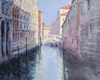 bridge over canal by rugero valdini