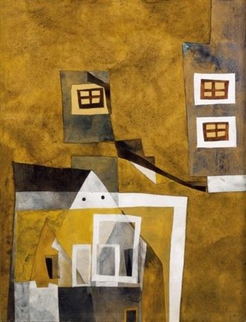 houses floating by lajos vajda