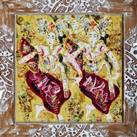 three dancers by nyoman gunarsa
