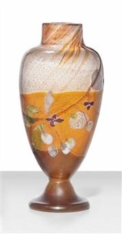 marqueterie-sur-verre intercalaire vase by émile gallé