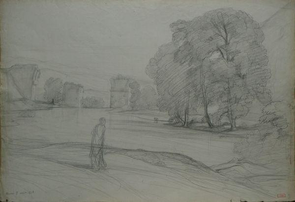 rivière et aqueduc narni by nicolas louis cabat