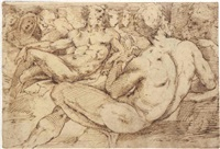 male nudes and other figures by domenico beccafumi